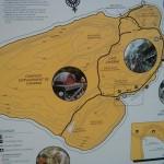 Bruce Peninsula - Mapa das trilhas da ilha